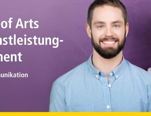 Bachelor of Arts BWL-Dienstleistungmanagement – Medien und Kommunikation
